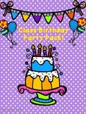 Birthday Book and Birthday Party Pack!