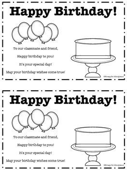 FREEBIE: Birthday Book