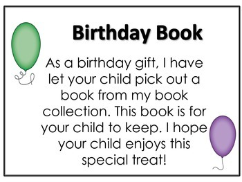 Birthday Book certificate