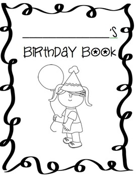 Birthday Book for Students (Positive Reinforcement and Writing Practice)