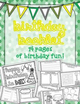 Birthday Activity Booklet