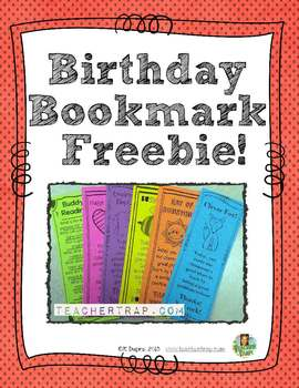 Birthday Bookmark!