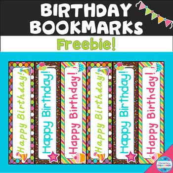 Birthday Bookmarks (Free!)