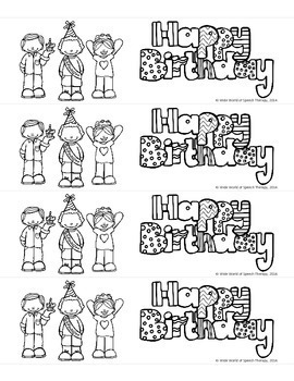 Birthday Bookmarks FREEBIE! in English, Spanish & French