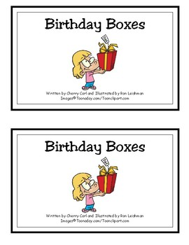Birthday Boxes Reproducible Guided Reader