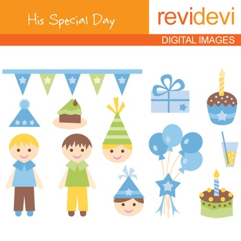 Birthday Boy Clip art - His Special Day