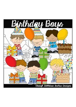 Birthday Boys Clipart Collection