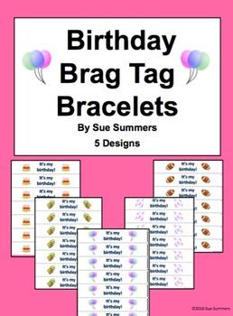 Birthday Brag Tag Bracelets 5 Designs - My Birthday