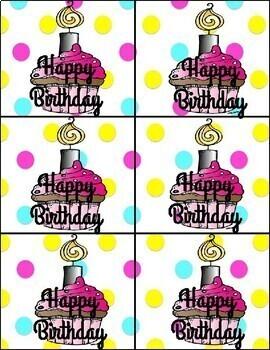 Birthday Brag Tags!