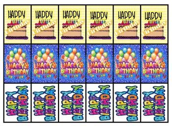 Birthday Brag Tags