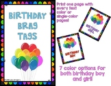 Birthday Brag Tags