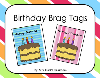 Birthday Brag Tags {FREEBIE}