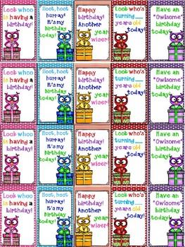 Birthday Brag Tags Free