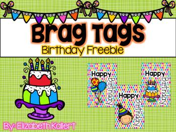 Birthday Brag Tags Freebie!