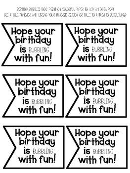 Birthday Bubbles gift