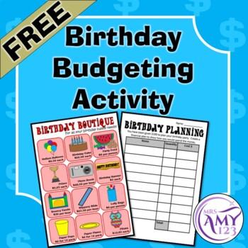 Birthday Budgeting Activity
