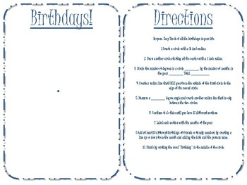Birthday Bullet Journal Geometry - Protractor and Compass Activity