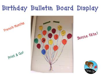 Birthday Bulletin Board - 100 Followers Freebie *FRENCH*