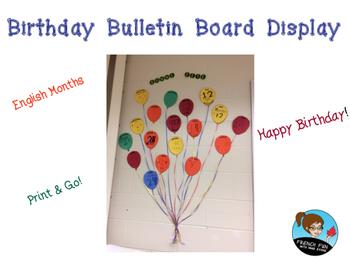 Birthday Bulletin Board - 100 Followers Freebie *ENGLISH*