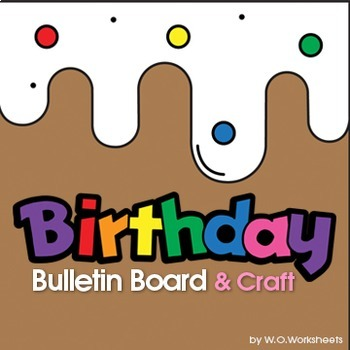 Birthday Display Bulletin Board Chart By WOWorksheets