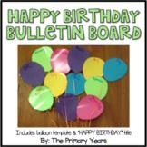 Birthday Balloon Bulletin Board