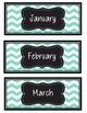 Birthday Bulletin Board Bundle, Calendar Months, Numbers {