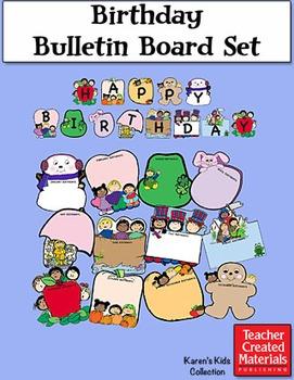 Birthday Bulletin Board Bundle by Karen's Kids (Digital Download)