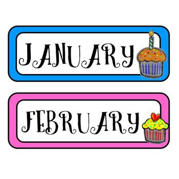 Birthday Bulletin Board {Cupcakes}