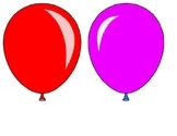 Birthday Bulletin Board - Colorful Balloons