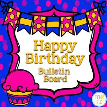 Cupcakes Birthday Bulletin Board