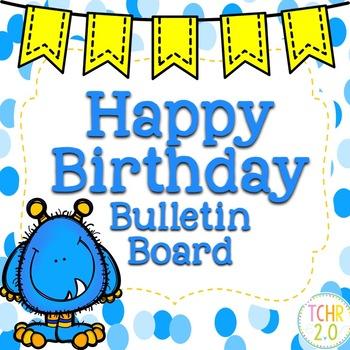 Monster Birthday Bulletin Board
