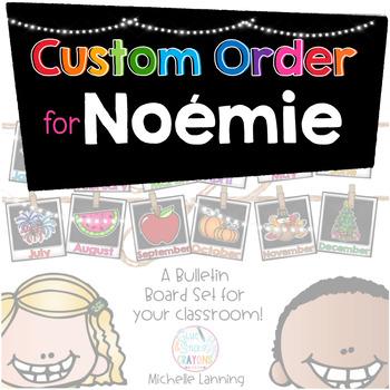 Custom Order for Noémie Lachambre.