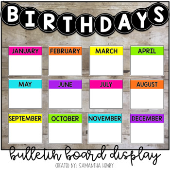 Birthday Bulletin Board Display