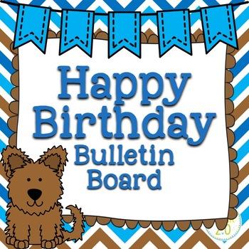 Dogs Birthday Bulletin Board