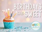 Birthday Display - Cupcake Theme