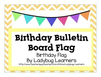 Birthday Bulletin Board Flag