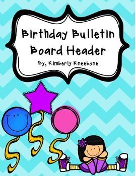 Birthday Bulletin Board Header - Pastel Chevron