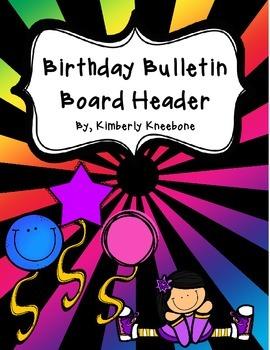 Birthday Bulletin Board Header - Bright Rays