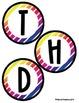 Birthday Bulletin Board Header - Colorful Diagonal Stripes