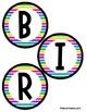 Birthday Bulletin Board Header - Colorful Stripes