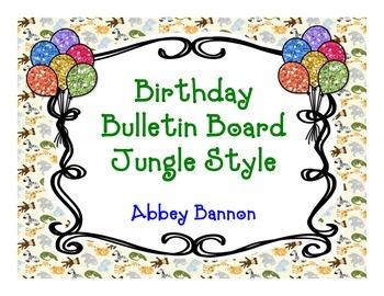 Birthday Bulletin Board - Jungle Theme