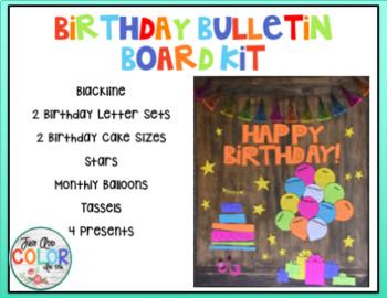 Birthday Bulletin Board Kit - Black line