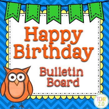 Owls Birthday Bulletin Board