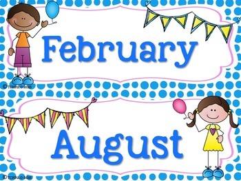 Scrappy Kids Birthday Bulletin Board