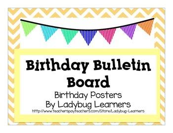 Birthday Bulletin Board Signs