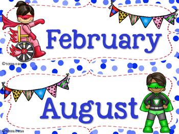 Superhero Birthday Bulletin Board