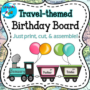 Birthday Bulletin Board - Trains