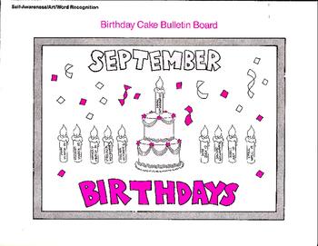 Birthday Bulletin Board and Celebration Crafts