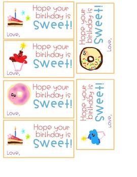 Birthday Clipart, Balloons, Tags