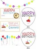 Birthday Clipart, Balloons, Tags